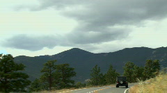 Rocky Mountain Driving 03 - stock footage