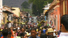San cristobal street busy1 Stock Footage