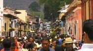 Stock Video Footage of san cristobal street busy1
