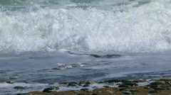 Foamy waves of the sea Stock Footage