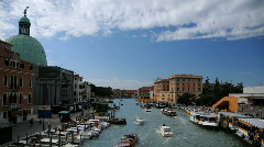 Venice Skyline Time lapse San Simeone Piccolo Church, Train Station, Grand Canal Stock Footage