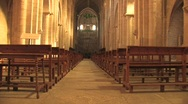 Stock Video Footage of Interior of Poblet Monastery in Spain