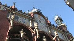 Palau de la Música Catalana Stock Footage