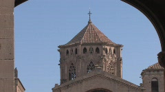 Poblet Monastery in Spain Stock Footage