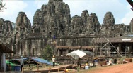 Archaeology Angkor Wat ANCIENT RUIN Archeological Dig Site Cambodia Archeologist Stock Footage