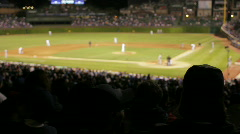 Clapping crowd at baseball game - stock footage