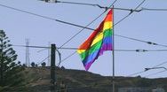 Large Rainbow Flag, San Francisco, The Castro - 01 Stock Footage