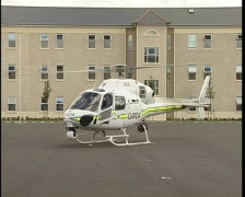 Irish Police Helicopter Stock Footage
