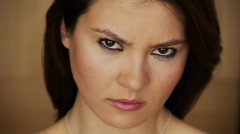 Girl angry upset disappointed  Stock Footage