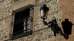 Madrid, church facade, streetlamp Stock Footage