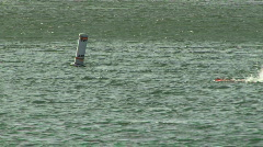 Ocean Swimmers San Francisco Bay 04 Stock Footage