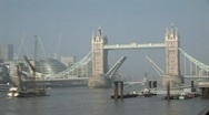 London Tower Bridge timelapse Stock Footage