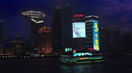 Stock Video Footage of Shanghai night