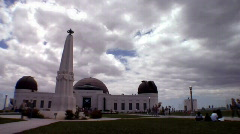 Griffith Park Observatory-Time Lapse Stock Footage