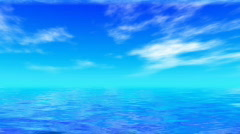 Blue Ocean and Sky Stock Footage