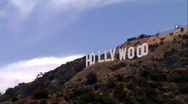 Stock Video Footage of Hollywood Sign Time Lapse-Medium