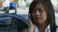 Stock Video Footage of Asian Business Woman Using Phone