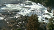 Stock Video Footage of Rheinfall, Rhine Falls, Airshot Part2