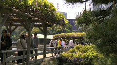 Japanese Garden Tokyo 08 Tourists Stock Footage