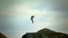 Freestyle Motocross Superman - stock footage