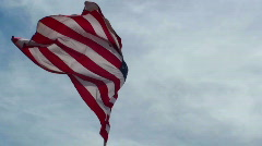 American Flag Beauty Slow Motion - stock footage