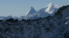 Matterhorn, Mt. Blanc Air shot Stock Footage