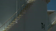 Oil Storage Tank Staircase Stock Footage