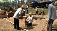 Stock Video Footage of Archaeology Angkor Wat ANCIENT RUIN Archeological Dig Site Cambodia Archeologist