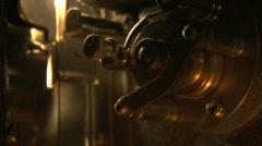 16mm projector gears Stock Footage