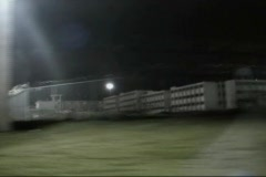 High Security Prison at Night Stock Footage