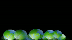 Globes rotating Stock Footage