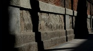Stone wall covered by shadows, timelapse Stock Footage