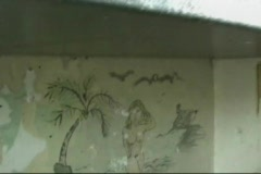 State Penitentiary Jail Cell Grafitti 3/10 Stock Footage