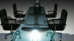 T189 office meeting chair table meet Stock Footage