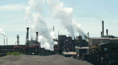 Industrial factory with discharge 16 Stock Footage