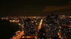 New York Time Lapse Manhattan Night Wide Stock Footage