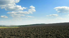 plough-land. loop.  - stock footage