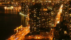 New York Time Lapse Manhattan Night - stock footage