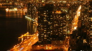 Stock Video Footage of New York Time Lapse Manhattan Night