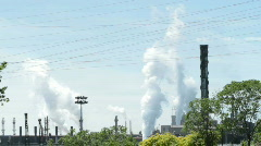 Industrial factory with discharge 14 Stock Footage