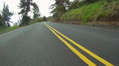Drive plate, reverse POV drive on upcountry road Maui, #3 Stock Footage