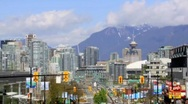 Stock Video Footage of Vancouver Skyline Timelapse