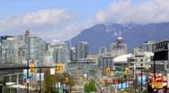 Vancouver Skyline Timelapse Stock Footage