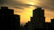 Stock Video Footage of Cloudy Sunset and Night Building Timelapse - 3 clips!!!