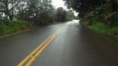 POV, drive on damp road coastal Maui, #1 Stock Footage