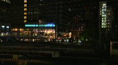 Tokyo Railway At Night 01 Stock Footage