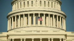 Capitol Building Flag Washington, DC Stock Footage