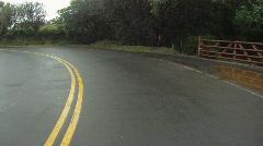 POV, drive on damp road, coastal Maui, #4 Stock Footage