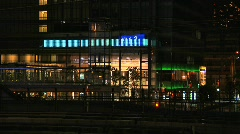 Tokyo Railway At Night 03 Stock Footage