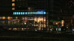 Tokyo Railway At Night 04 Stock Footage